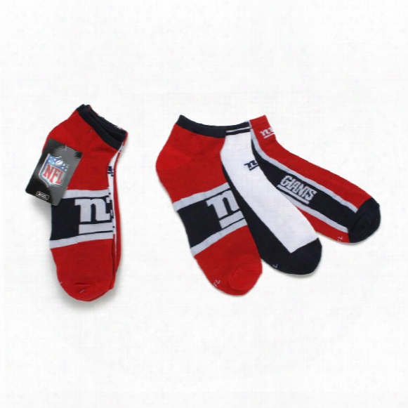 New York Giants Men's 3-pack No Show Socks