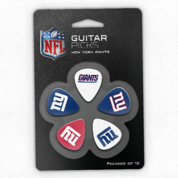 New York Giants Woodrow Guitar 10-pack Guitar Picks