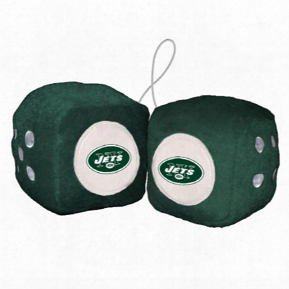 New York Jets Fuzzy Dice