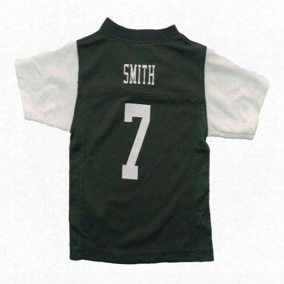 New York Jets Geno Smith Nfl Team Apparel Toddler Replica Football Jersey