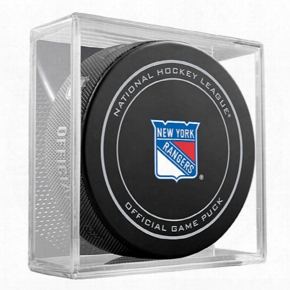 New York Rangers Replica Game Puck With Case