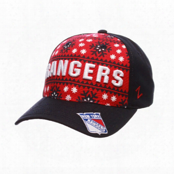 New York Rangers Snowflake Curved Cap