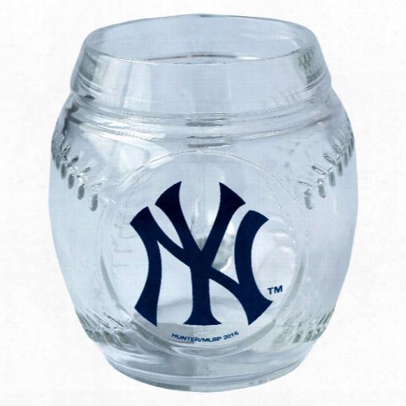 New York Yankees 20oz Glass Baseball Mug