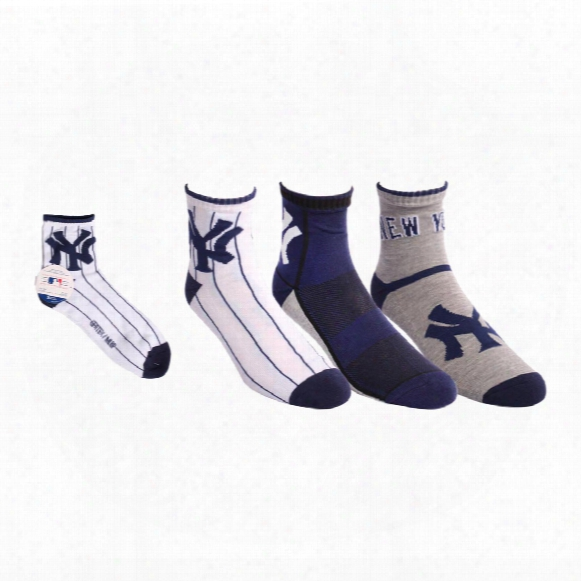 New York Yankees Men's 3-pack Quarter Socks