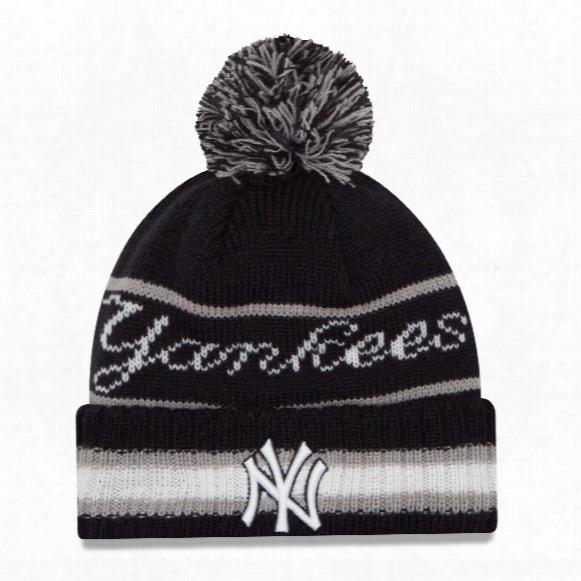 New York Yankees New Era Mlb Cuffed Vintage Select Pom Knit Hat