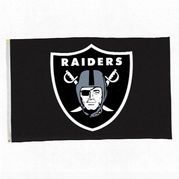 Oakland Raiders 3' X 5' Team Logo Flag