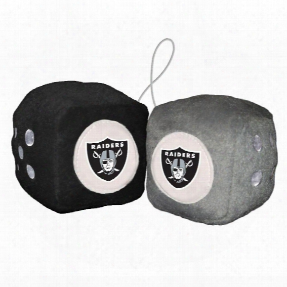 Oakland Raiders Fuzzy Dice