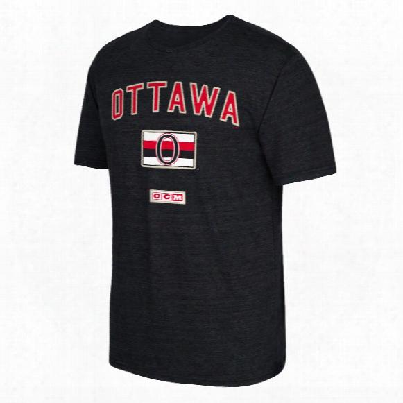 Ottawa Senators Ccm Retro Stitches Tri-blend T-shirt
