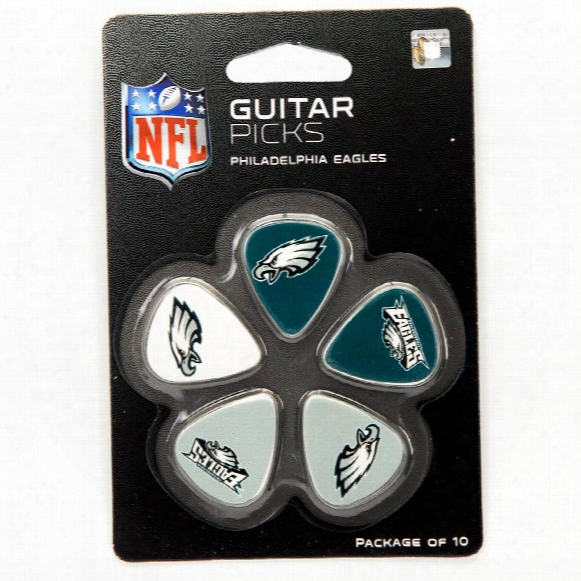 Philadelphia Eagles Woodrow Guitar 10-pack Guitar Picks