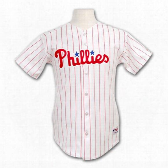 Philadelphia Phillies Youth Authentic Home Mlb Baseball Jersey