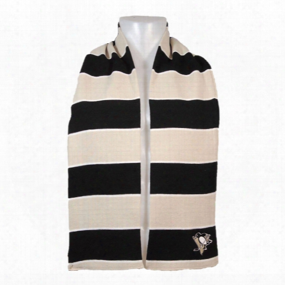 Pittsburgh Penguins Rugby Style Knit Scarf
