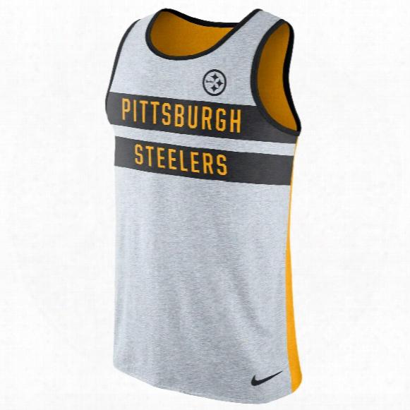 Pittsburgh Steelers Nfl Nike Stripe Tri-blend Tank Top