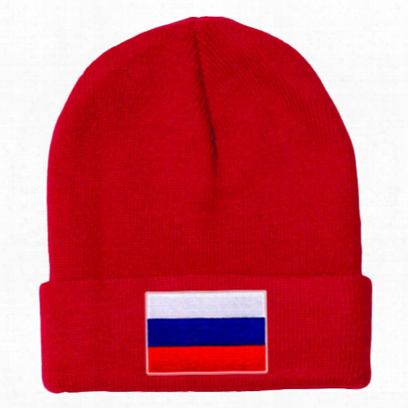 Russia Mycountry Solid Knit Hat (red)
