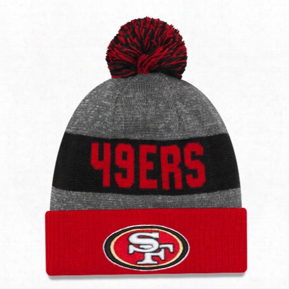 San Franciscoo 49ers New Era 2016 Nfl Official Sideline Sport Knit Hat