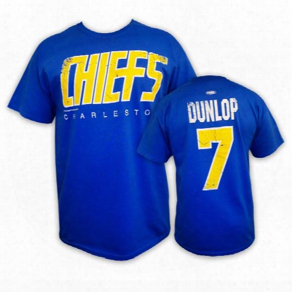 *slapshot* Charlestown Chiefs Reg Dunlop T-shirt (bue)
