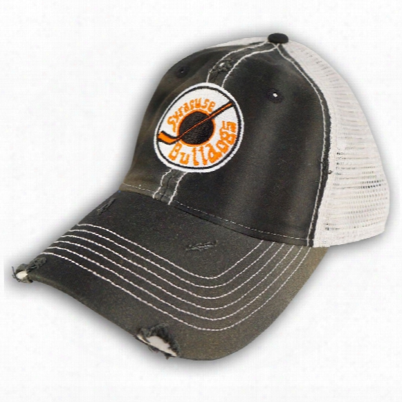*slapshot* Syracuse Bulldogs Old Time Hockey Distressed Washed Trucker Cap