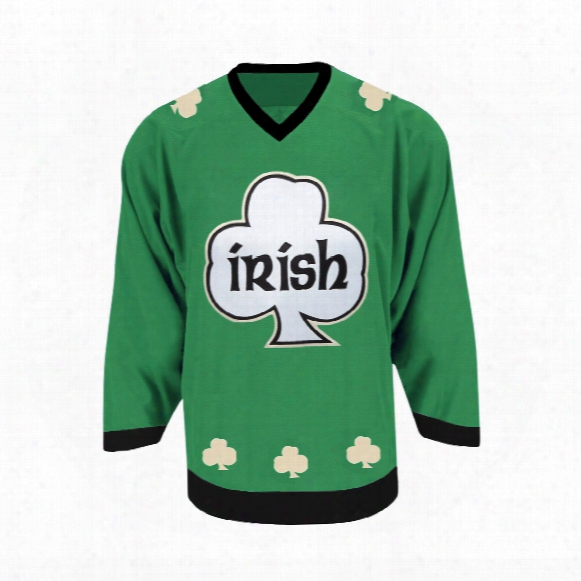 St. Patrick's Irish Cloverkill Replica Dark Hockey Jersey