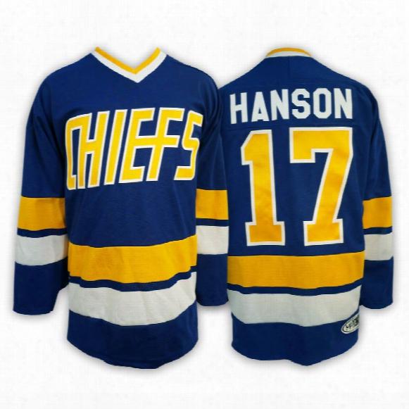 Steve Hanson Charlestown Chiefs *slapshot* Replica Away Jersey