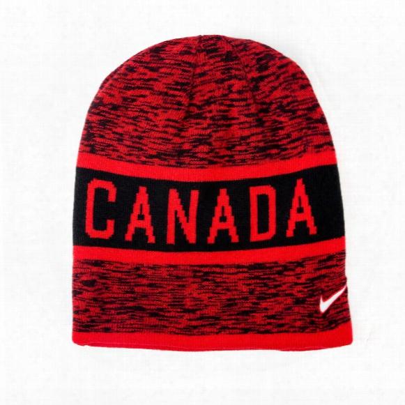 Team Canada Iihf Reversible Knit Beanie