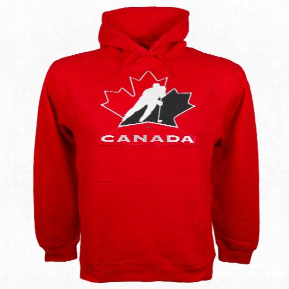 Team Canada Iihf Twill Logo Hoody (red)