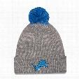 Detroit Lions New Era NFL Cuff Start Pom Knit Hat