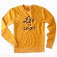 Life is Good Men's Script Go-To Crew (Artisan Gold)
