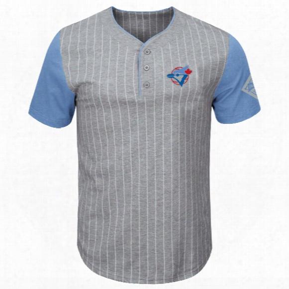 Toronto Blue Jays Cooperstown Pinstripe Henley T-shirt