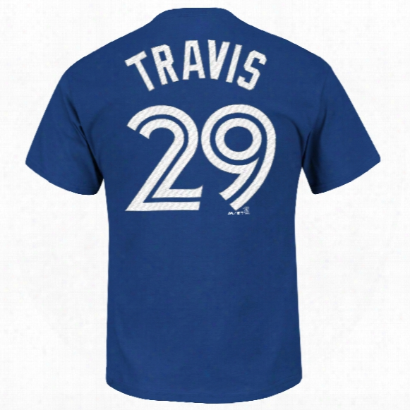 Toronto Blue Jays Devon Travis Mlb Player Name & Number T-shirt
