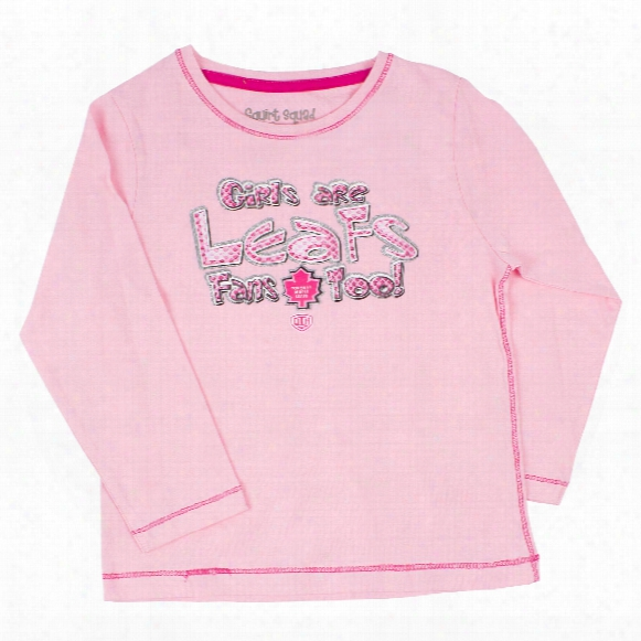 Toronto Maple Leafs Kids Lolipop Long Sleeve T-shirt (pink)