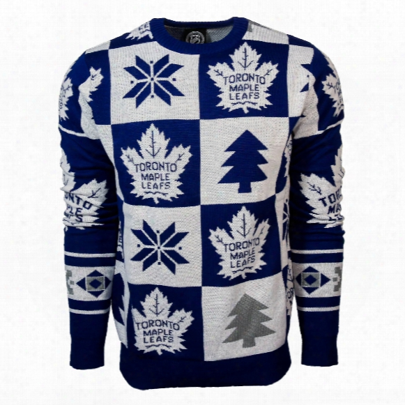 Toronto Maple Leafs Nhl Patches Ugly Crewneck Sweater