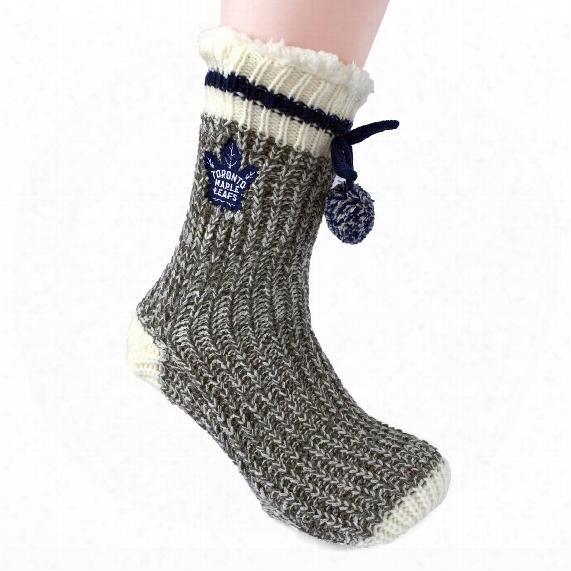 Toronto Maple  Leafs Women's Sherpa Slipper-socks