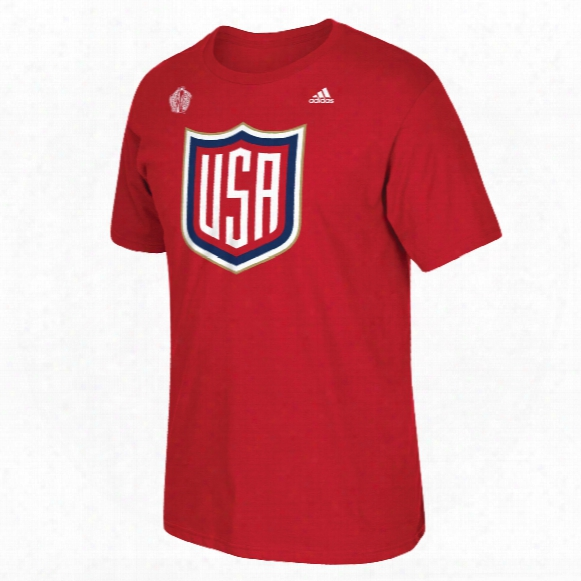 Usa Hockey 2016 World Cup Of Hockey Primary Logo Go To T-shirt (red)