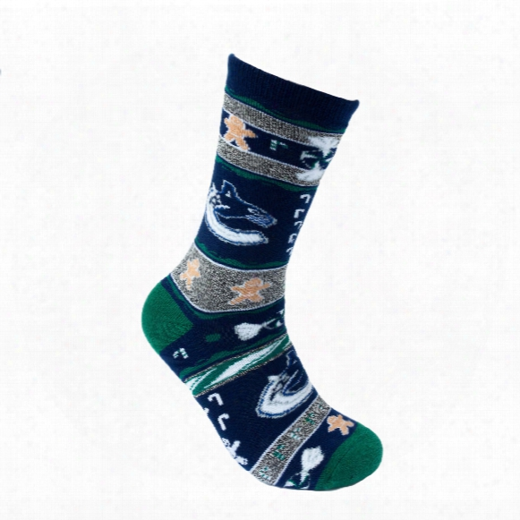 Vancouver Canucks Holiday Knit Crew Socks