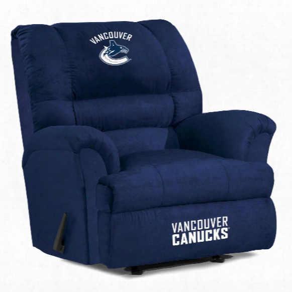 Vancouver Canucks Microfiber Big Daddy Recliner