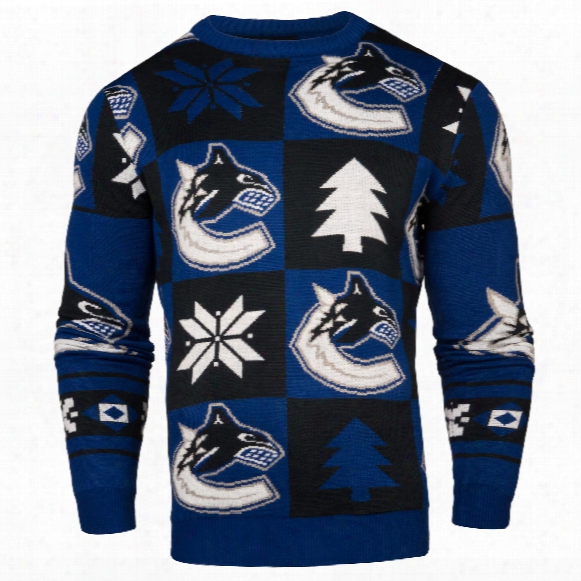 Vancouver Canucks Nhl Patches Ugly Crewneck Sweater