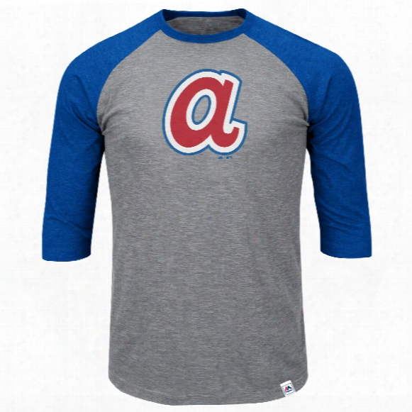 Atlanta Braves Cooperstown Two To One Margin 3/4 Raglan T-shirt