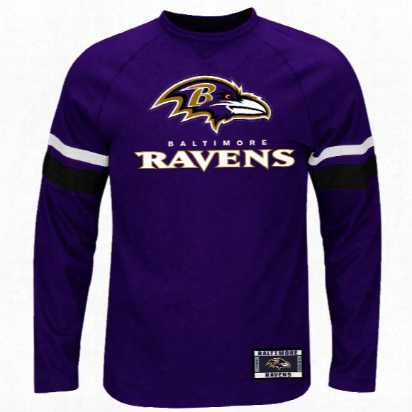 Baltimore Ravens 2016 Power Hit Long Sleeve Nfl T-shirt With Felt Applique