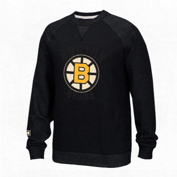 Boston Bruins Ccm Retro Fleece Crew