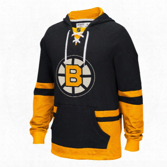 Boston Bruins Ccm Retro Pullover Lace Hoodie