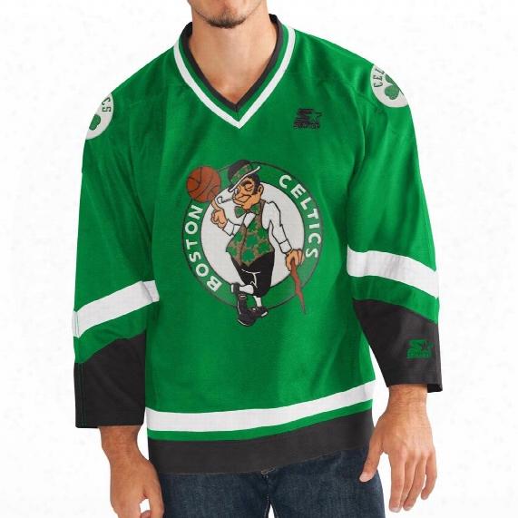 """Boston Celtics Starter Nba """"crossover"""" Hockey Jersey"""