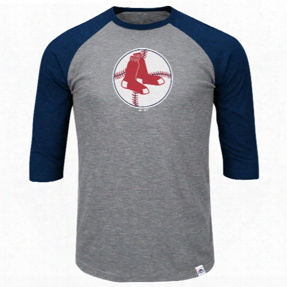 Boston Red Sox Cooperstown Two To One Margin 3/4 Raglan T-shirt