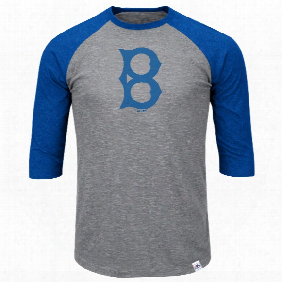 Brooklyn Dodgers Cooperstown Two To One Margin 3/4 Raglan T-shirt
