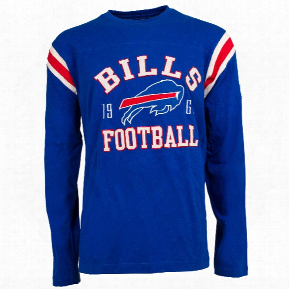 Buffalo Bills Nfl Lateral Felt Applique Long Sleeve Jersey T-shirt