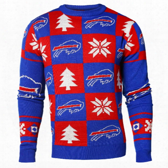 Buffalo Bills Nfl Patches Ugly Crewneck Sweater