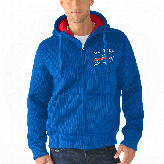 Buffalo Bills Nfl Sherpa Full Zip Hooded Jacket