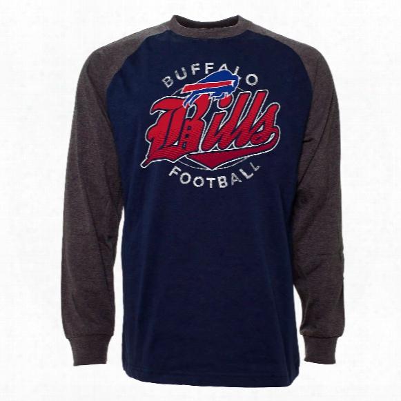 Buffalo Bills Rounder Raglan Long Sleeve Jersey T-shirt