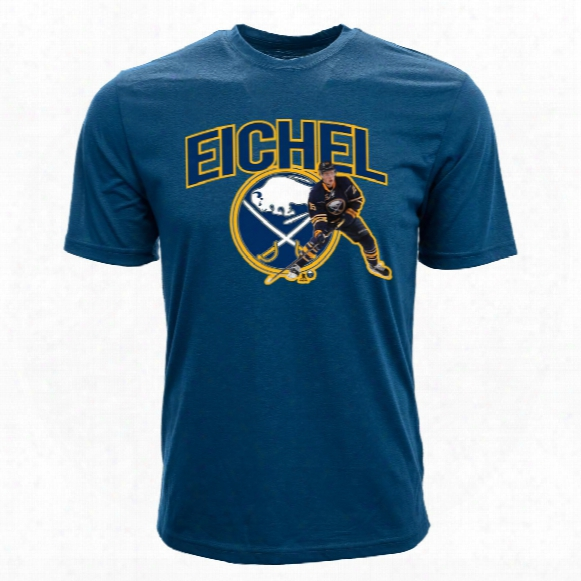 Buffalo Sabres Jack Eichel Nhl Action Pop Applique T-shirt