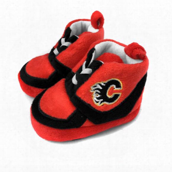 Calgary Flames Sneaker Baby Booties