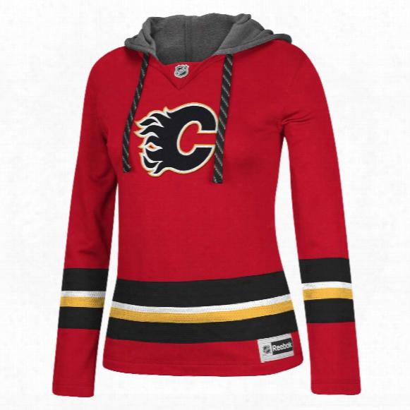 Calgary Flames Women's Jersey Crewdie Pullover Hood