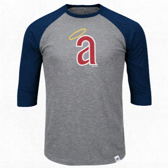 California Angels Cooperstown Two To One Margin 3/4 Raglan T-shirt